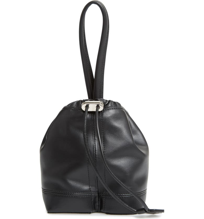 PACO RABANNE Mini Pouch Faux Leather Tote, Main, color, 990