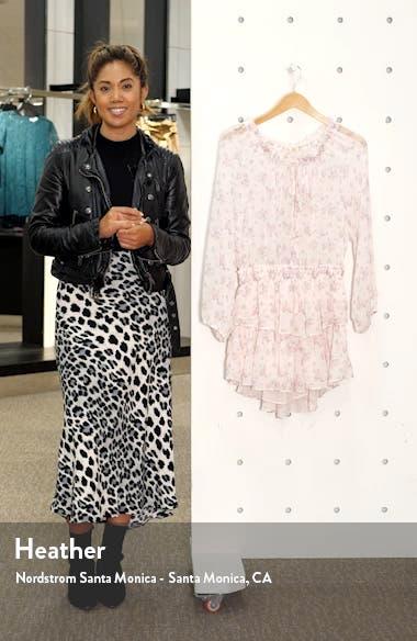 Floral Silk Asymmetrical Popover Minidress, sales video thumbnail