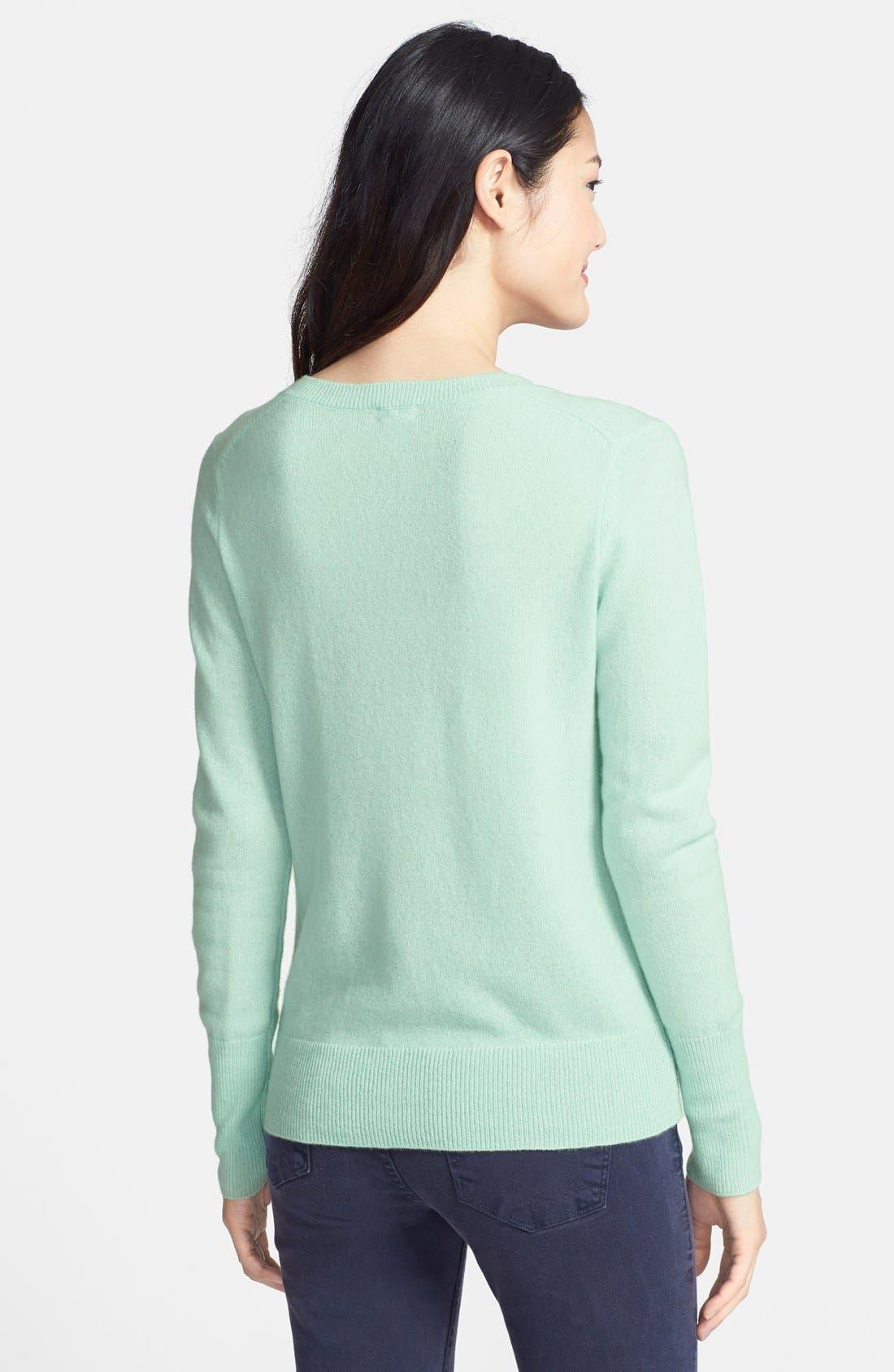 ,                             Cashmere V-Neck Sweater,                             Alternate thumbnail 53, color,                             449