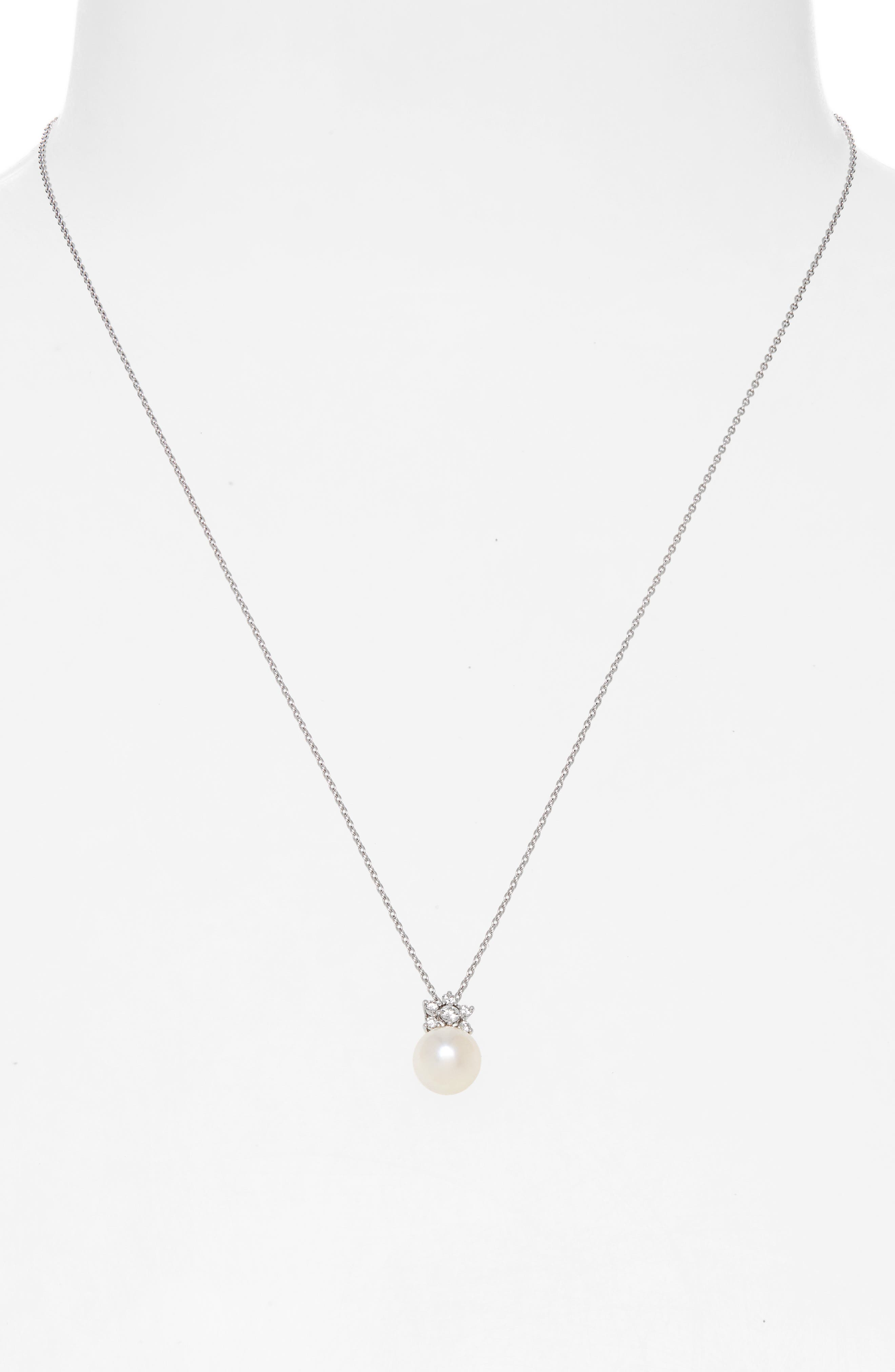 Akoya Cultured Pearl & Diamond Pendant Necklace