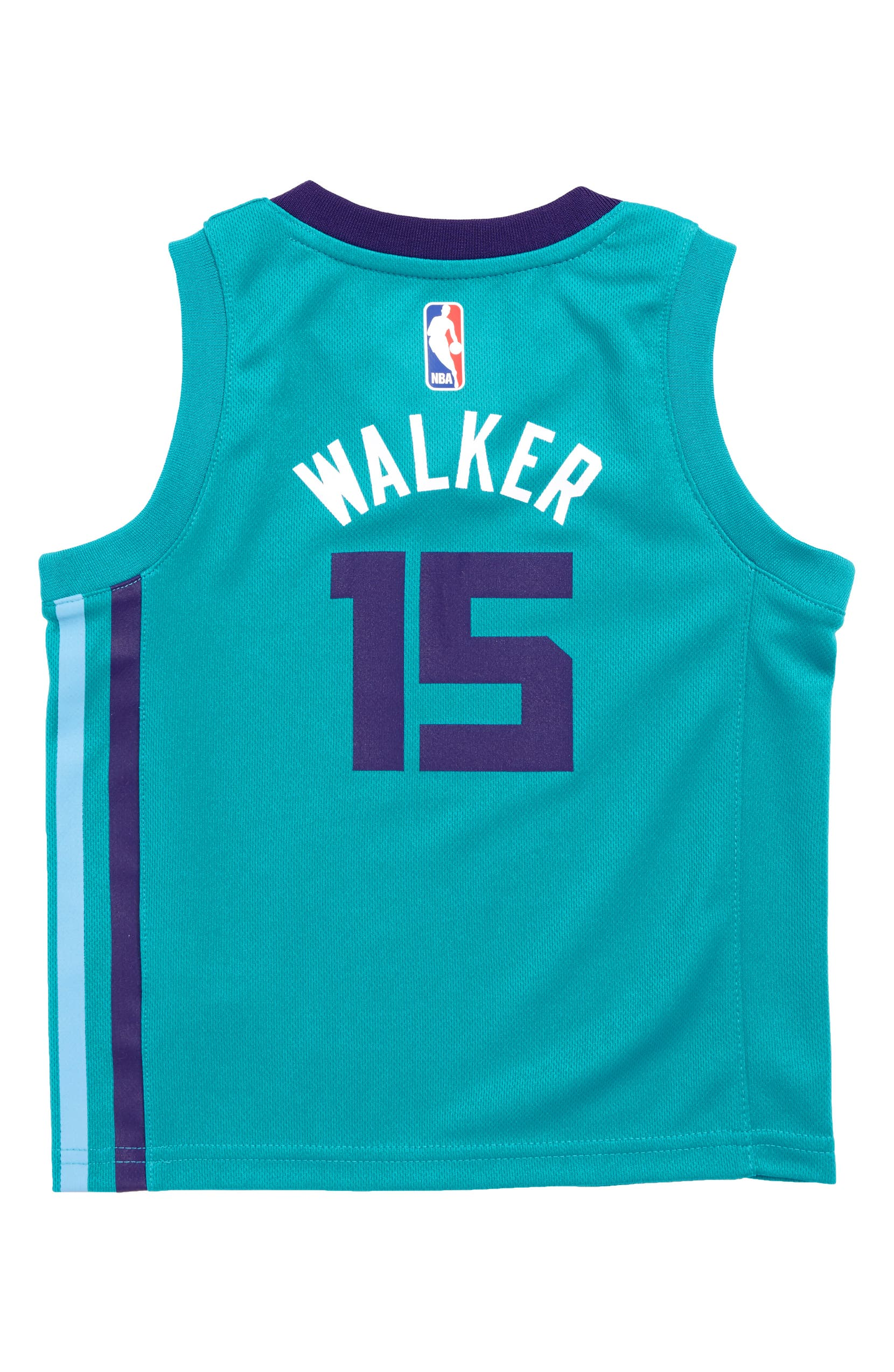 sports shoes 6d718 a35a0 NBA Logo Charlotte Hornets Kemba Walker Basketball Jersey ...