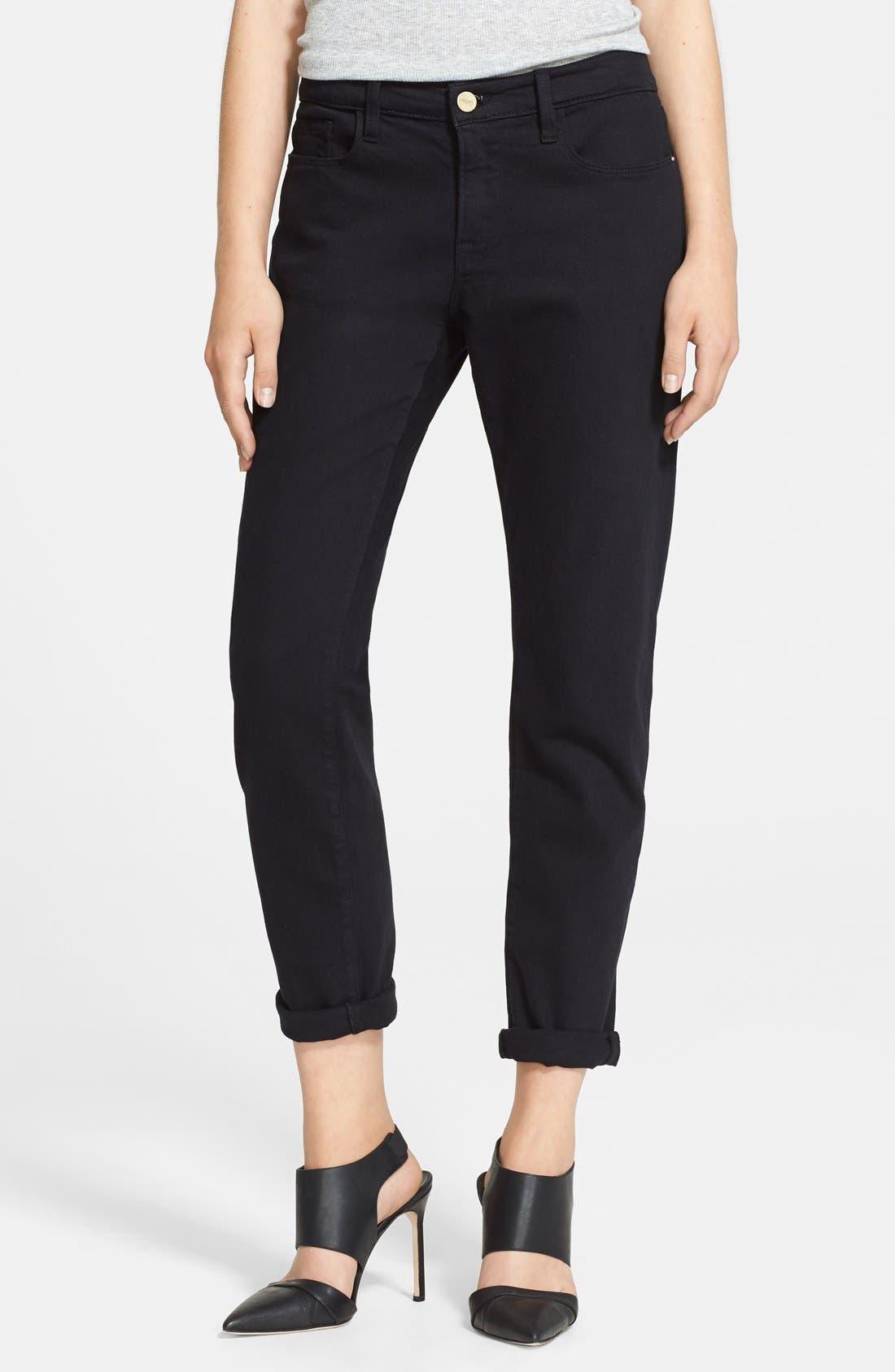 Women's Frame Denim 'Le Garcon' Boyfriend Jeans,  29 - Black