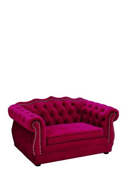 Image of TOV Furniture Yorkshire Pink Pet Bed