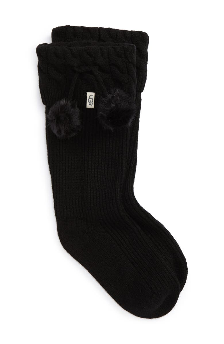 UGG UGGpure Pompom Tall Rain Boot Sock Women