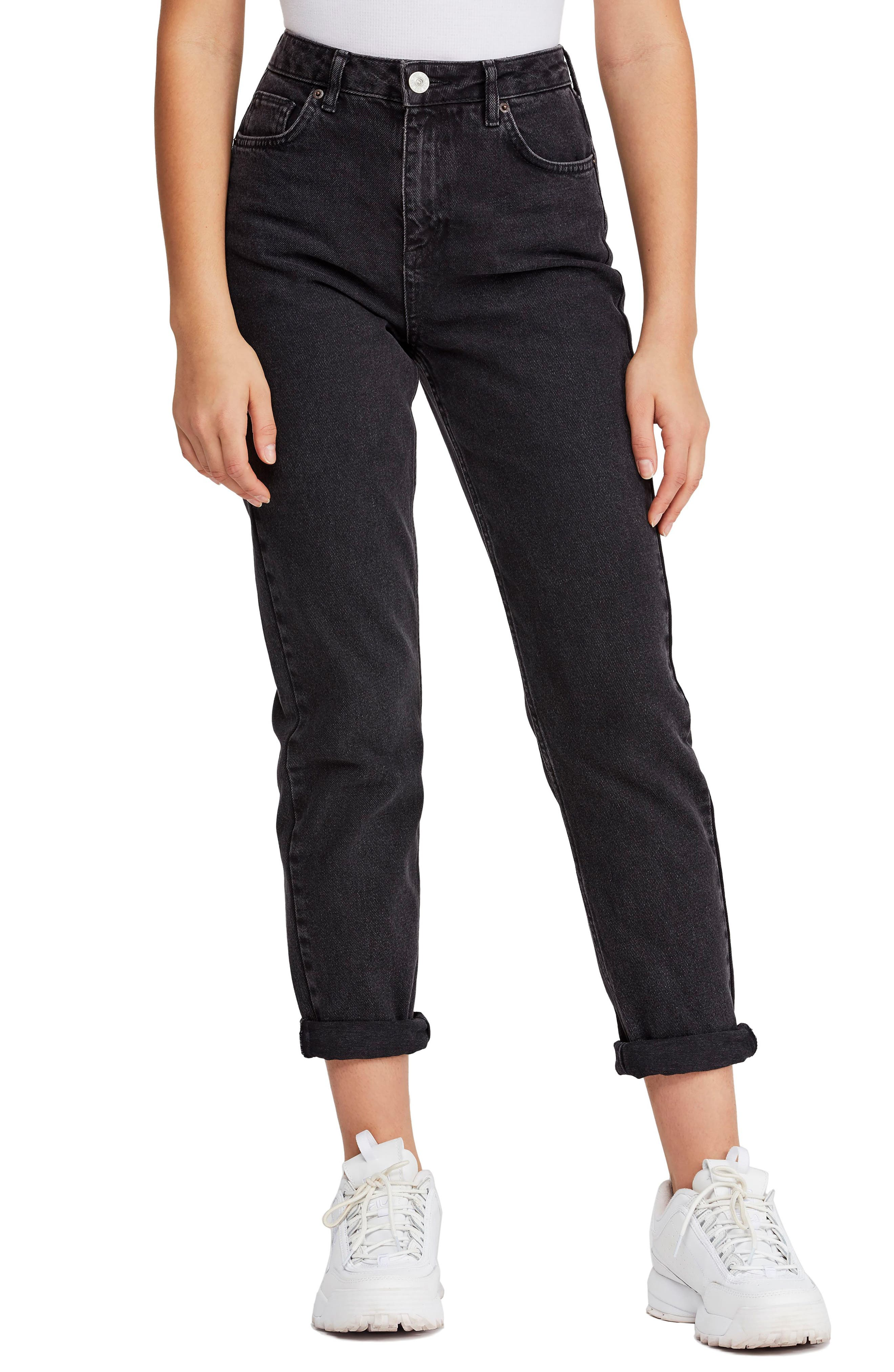 Urban Outfitters Mom Jeans, Main, color, CARBON