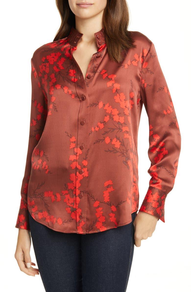 EQUIPMENT Maisa Silk Shirt, Main, color, SMOKE PAPRIKA MULTI