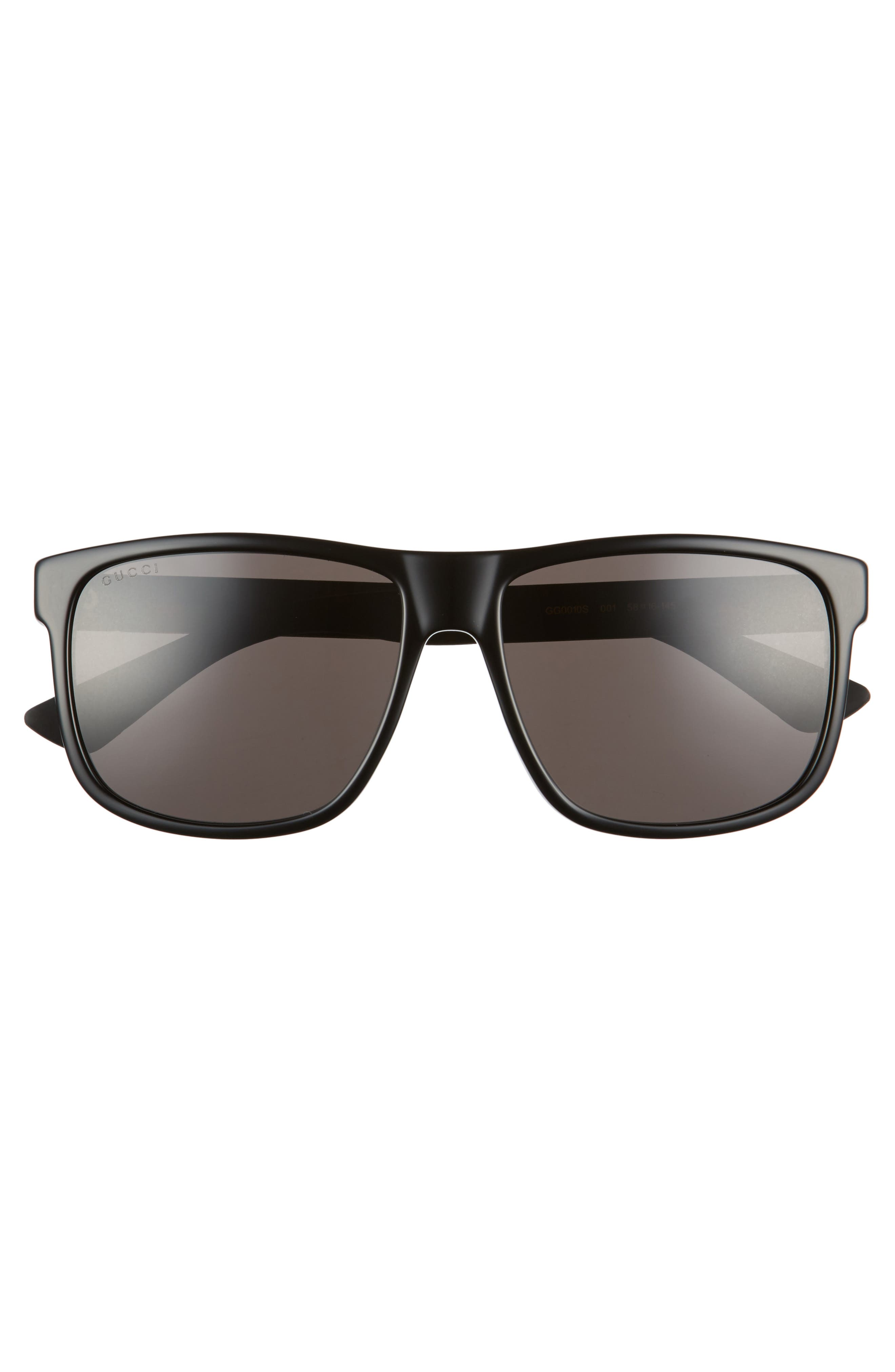 ,                             58mm Sunglasses,                             Alternate thumbnail 2, color,                             BLACK