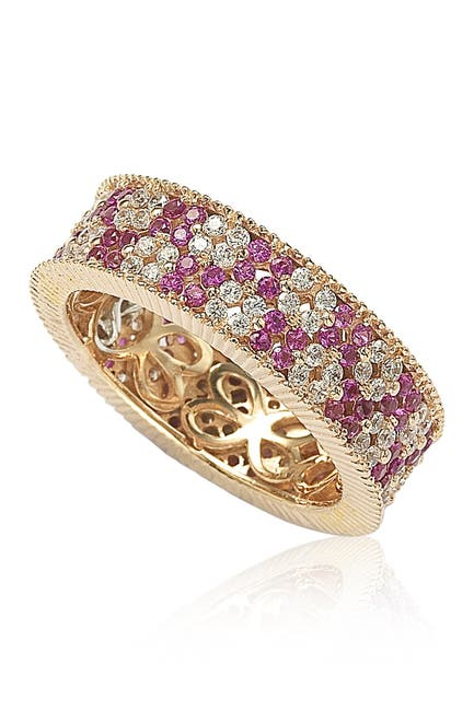 Image of Suzy Levian Red & White CZ Eternity Band
