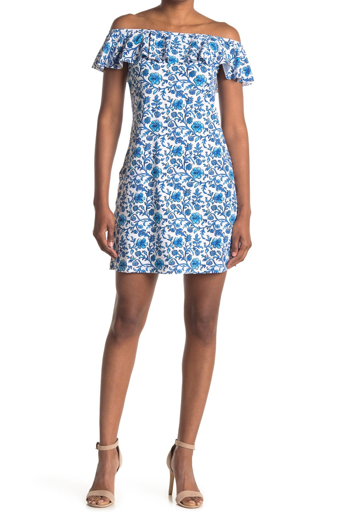 Image of Tommy Bahama Off-the-Shoulder Ruffle Spa Dress