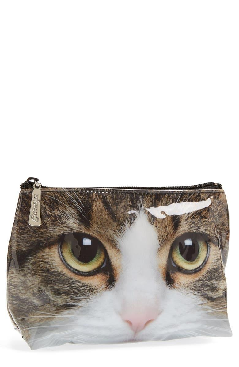 Catseye London Small Tabby Cat Cosmetics Bag Nordstrom