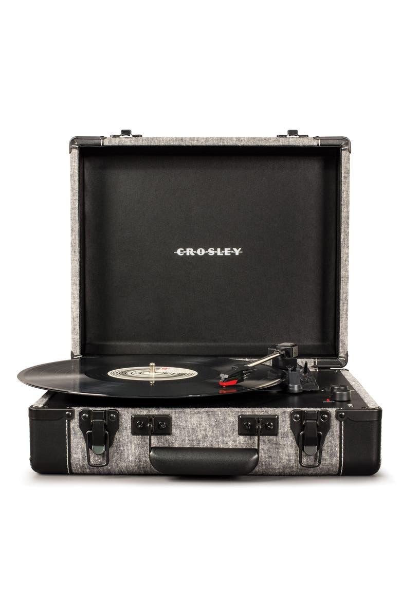 CROSLEY RADIO Executive Bluetooth<sup>®</sup> USB Turntable, Main, color, GREY
