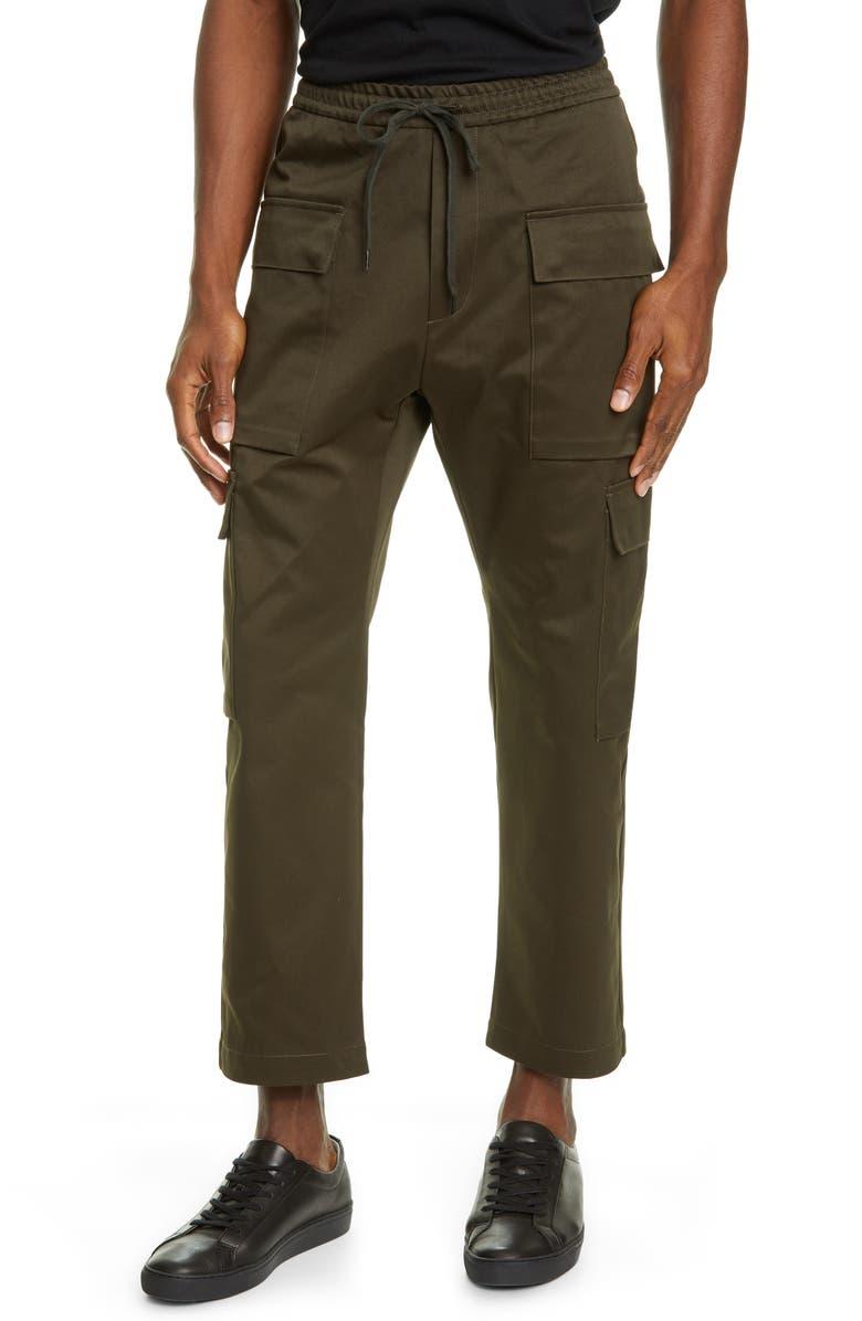 BARENA VENEZIA Varotto Cargo Pants, Main, color, OLIVA