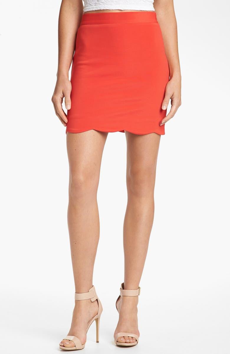 MINKPINK 'Roxana' Miniskirt, Main, color, RED