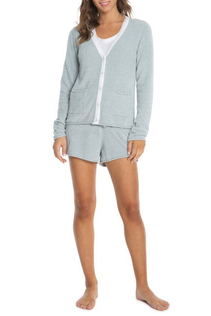 Image of Barefoot Dreams Cozychic Ultra Lite Contrast Tipped Cardigan