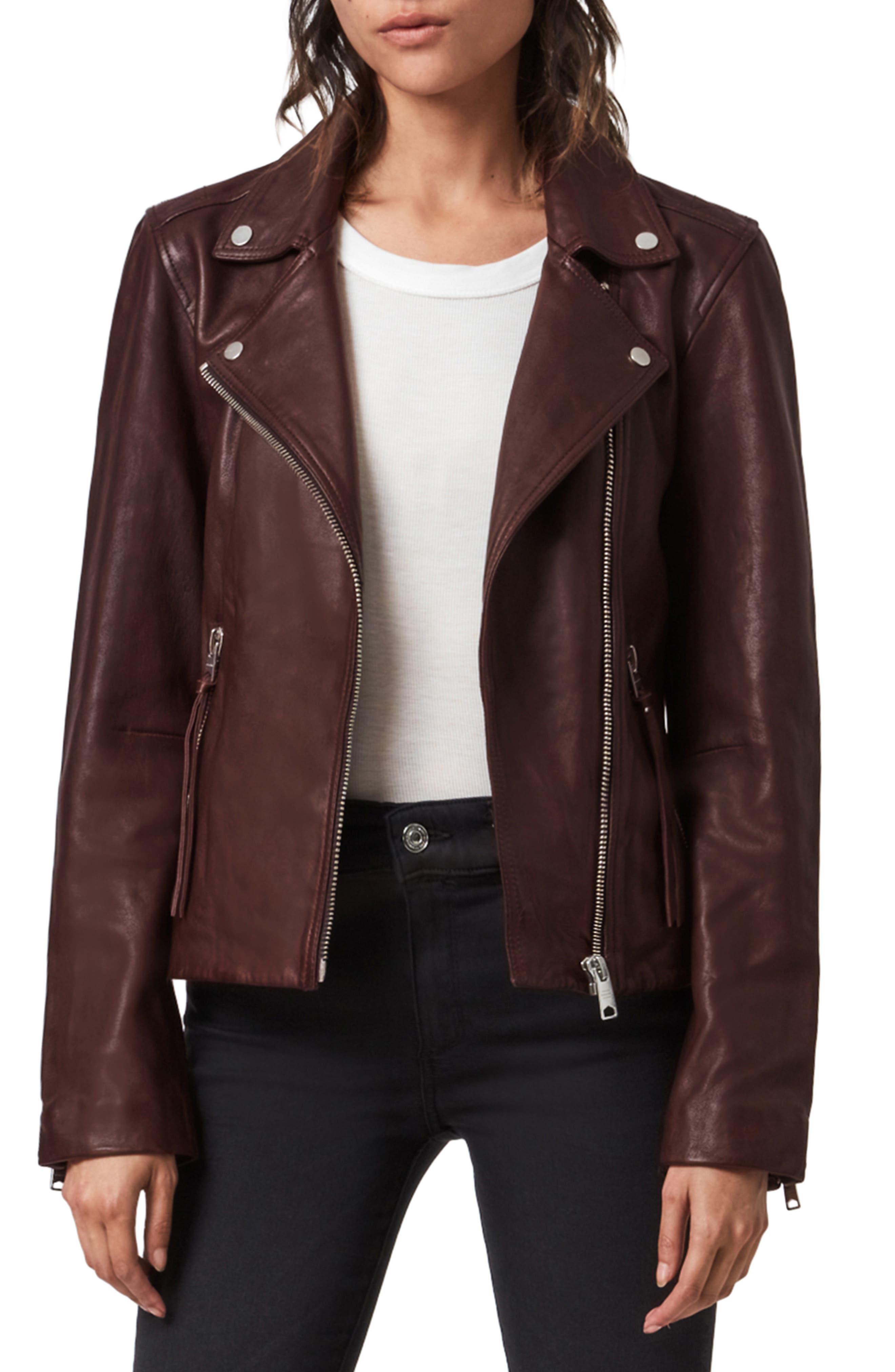 ALLSAINTS Dalby Leather Biker Jacket | Nordstrom