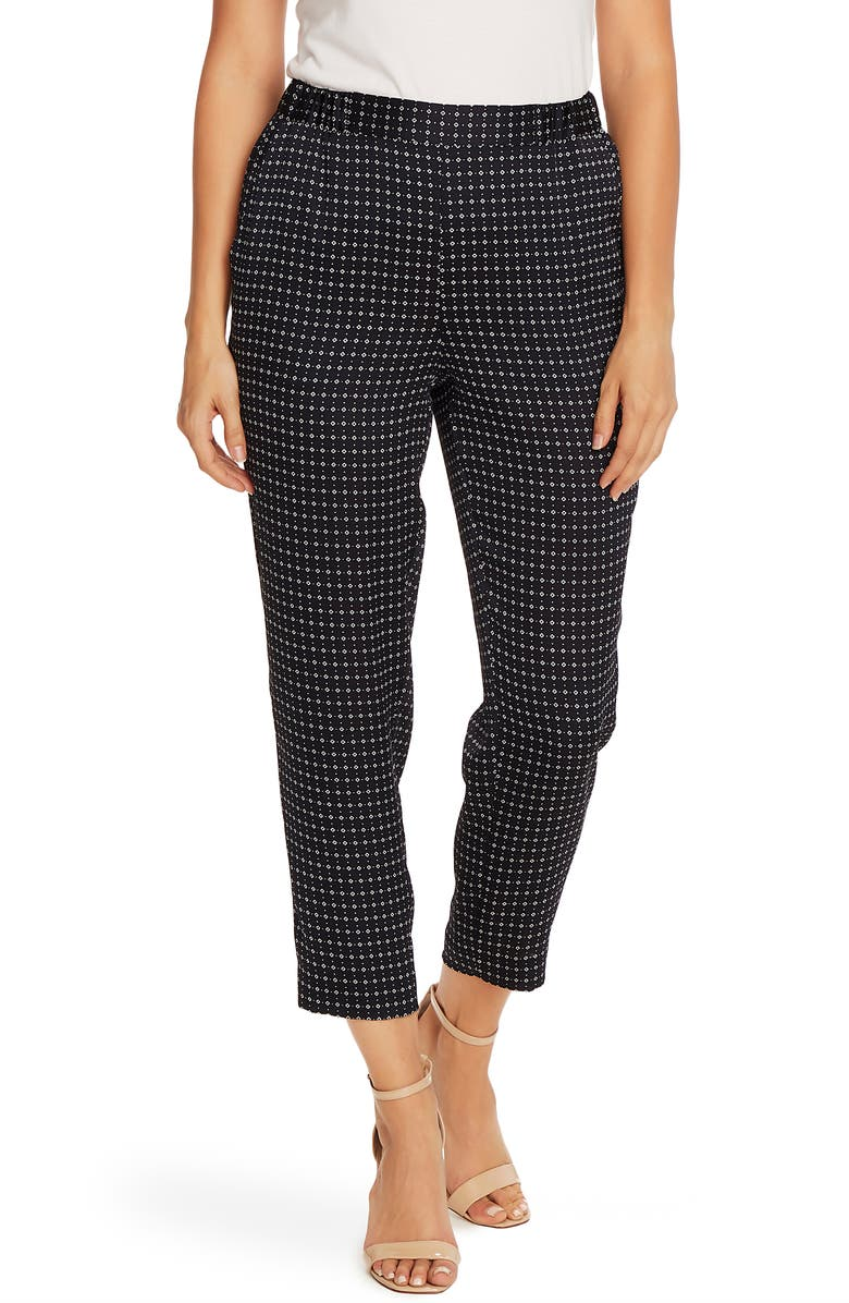VINCE CAMUTO Geo Slim Leg Pull-On Pants, Main, color, NIGHT NAVY