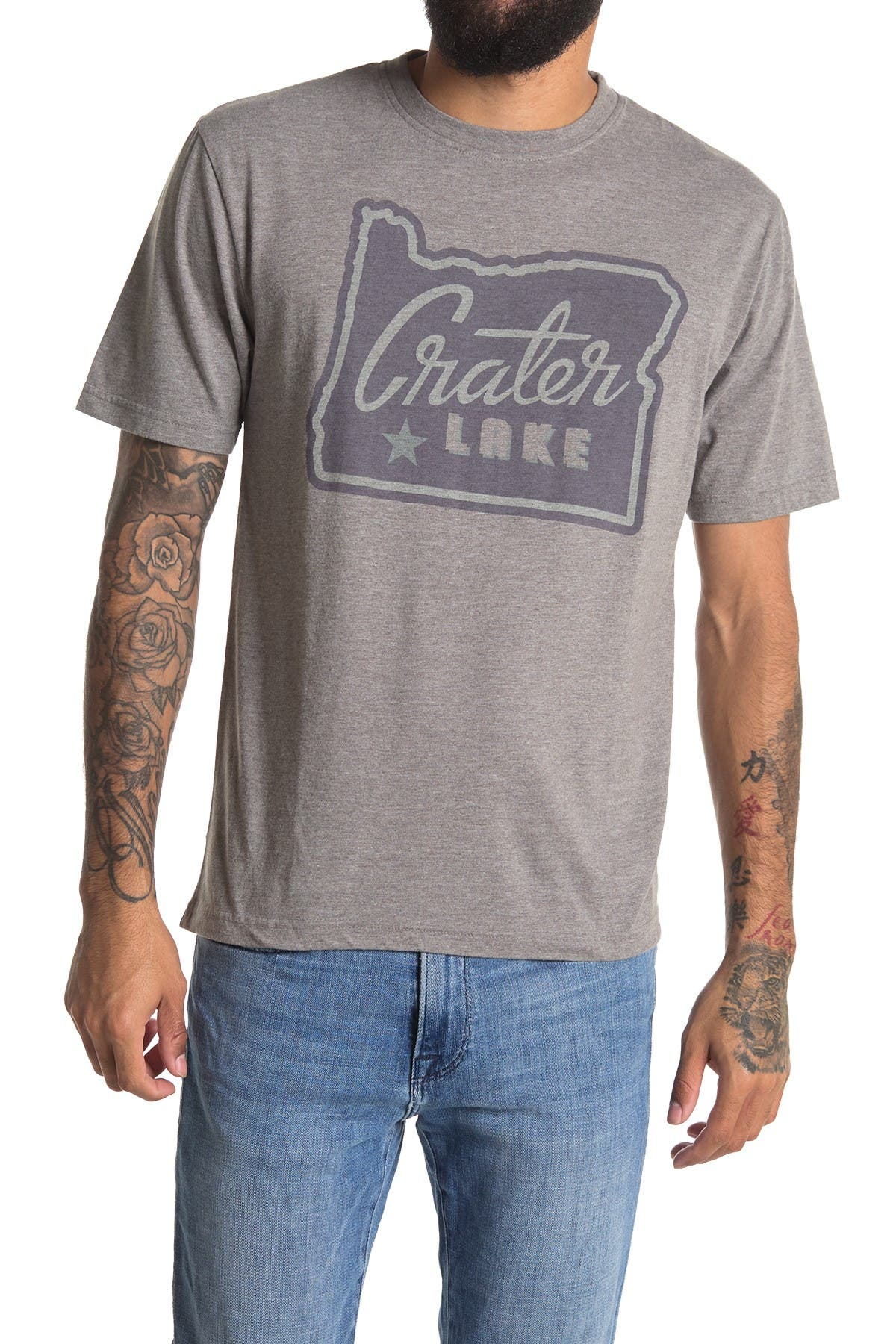 Image of American Needle Vintage Crater Lake Crew Neck T-Shirt