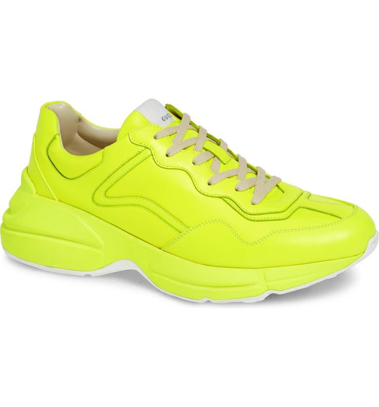 GUCCI Rhyton Sneaker, Main, color, YELLOW