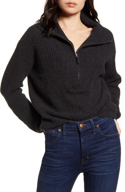 Splendid Sweaters COOPER PULLOVER HALF ZIP SWEATER