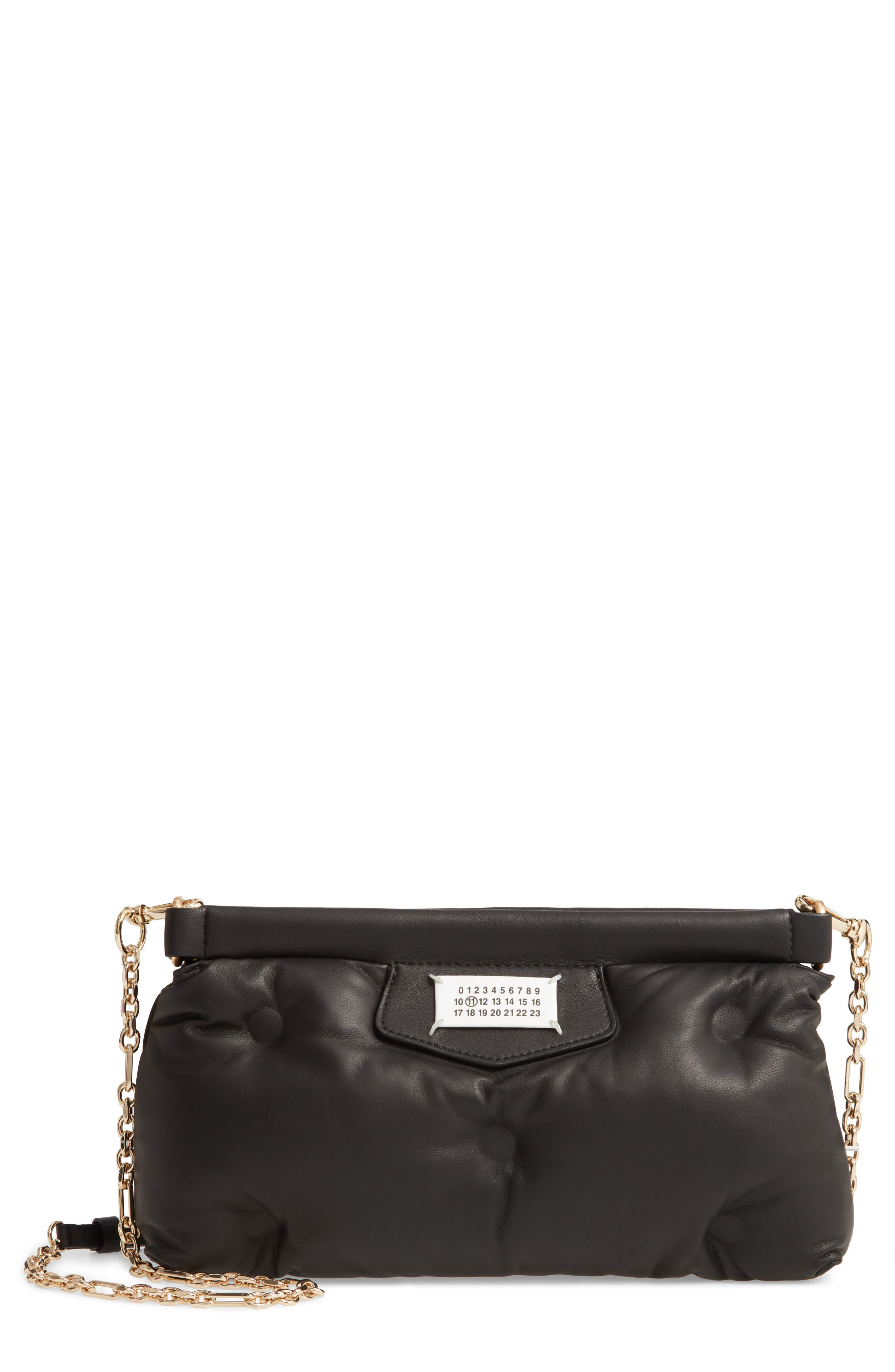 Maison Margiela Jewelry Glam Slam Plush Leather Clutch