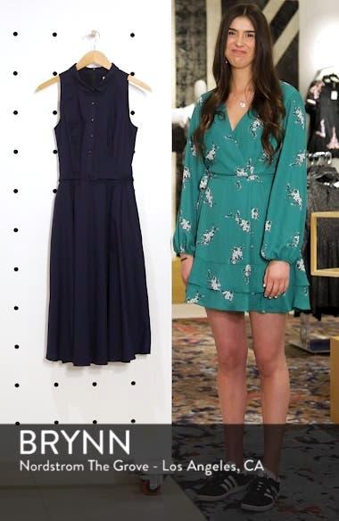 Sleeveless Cotton Poplin Shirtdress, sales video thumbnail