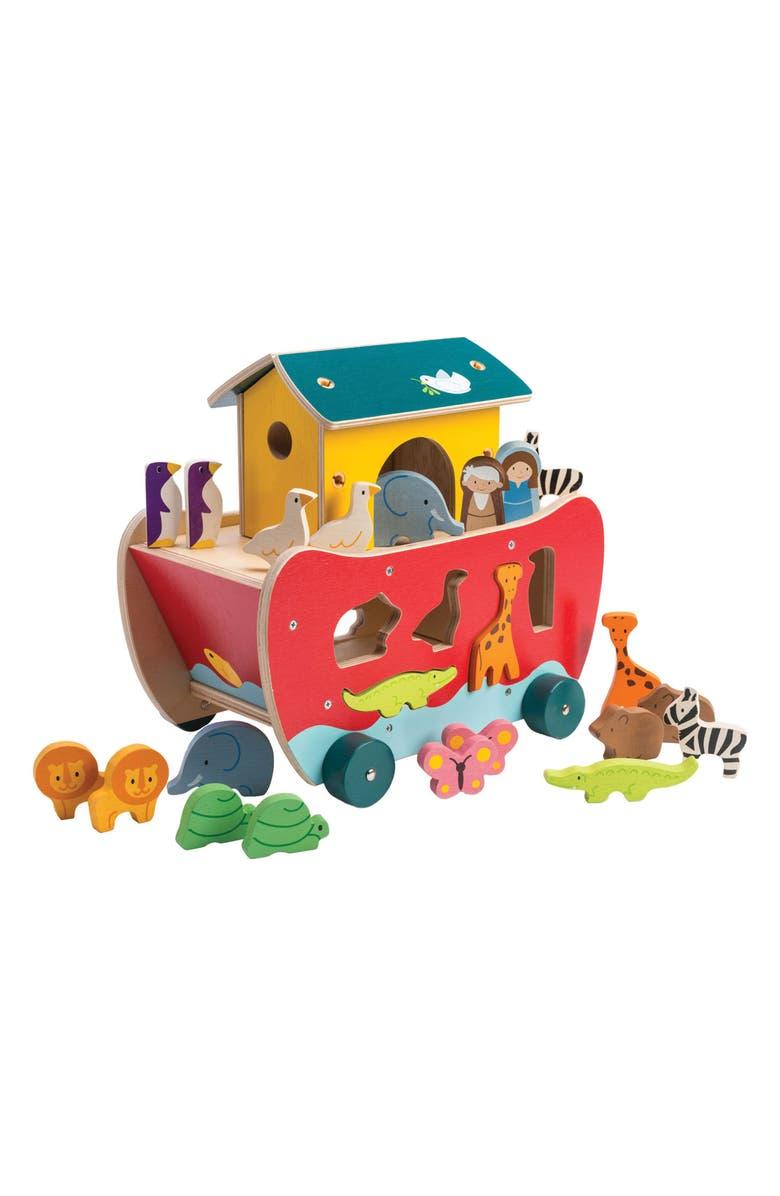 TENDER LEAF TOYS Noah's Shape Sorter Ark Play Set, Main, color, 100