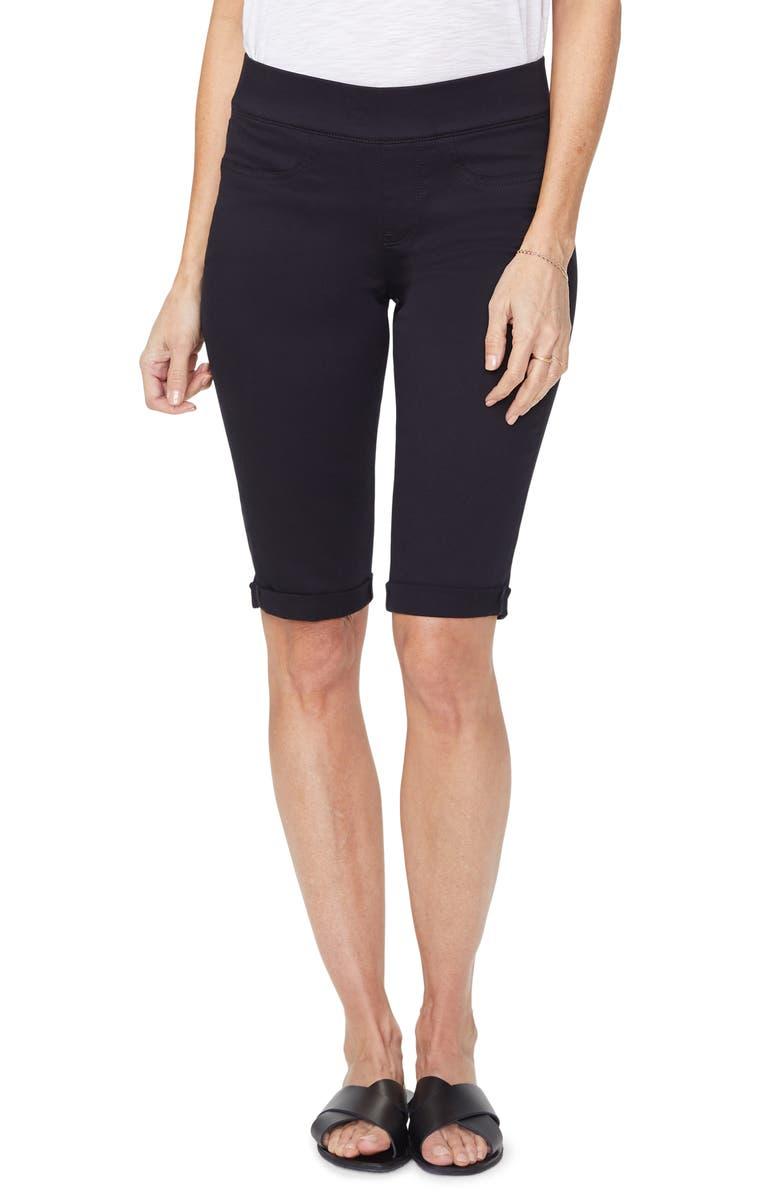 NYDJ Pull On Shorts, Main, color, BLACK