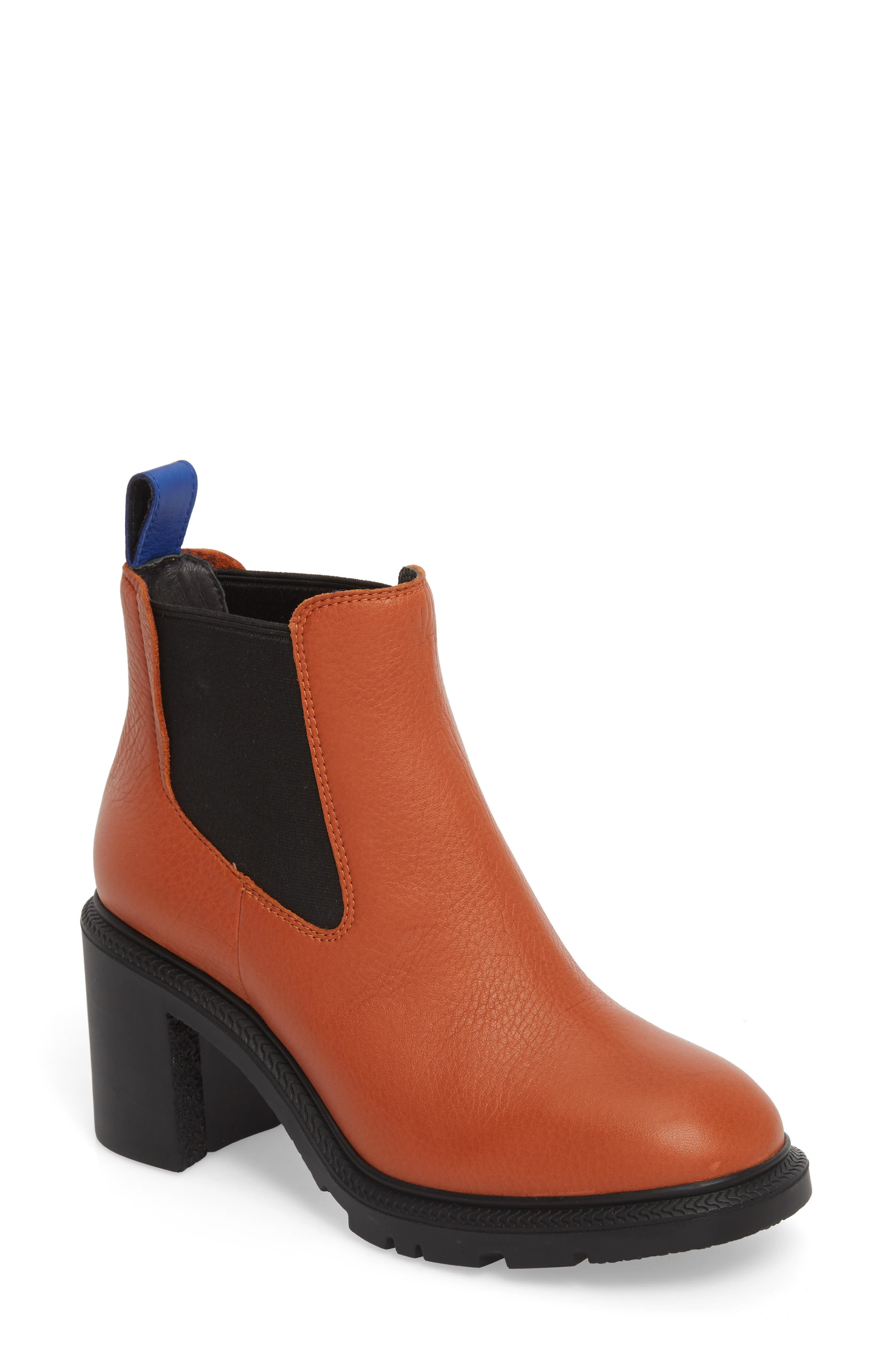 ,                             Whitnee Bootie,                             Main thumbnail 1, color,                             RUST COPPER LEATHER/ BLACK