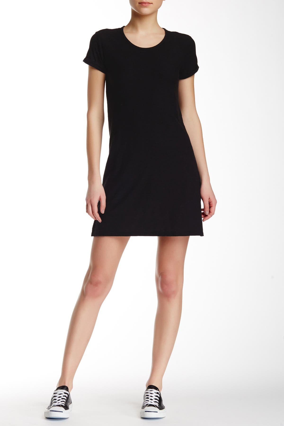 Image of James Perse Rolled Sleeve T-Shirt Dress