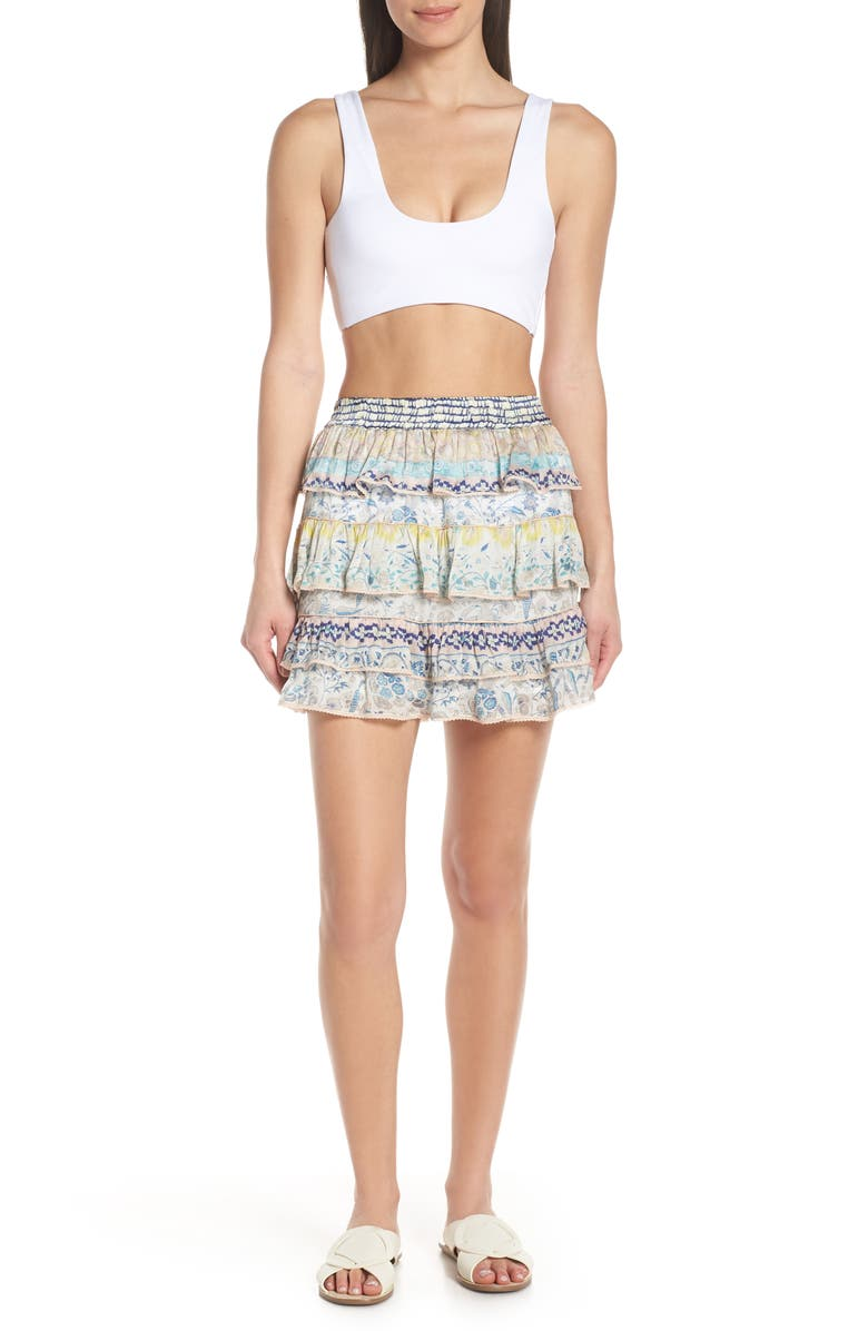 HEMANT & NANDITA Cover-Up Miniskirt, Main, color, SAKURA