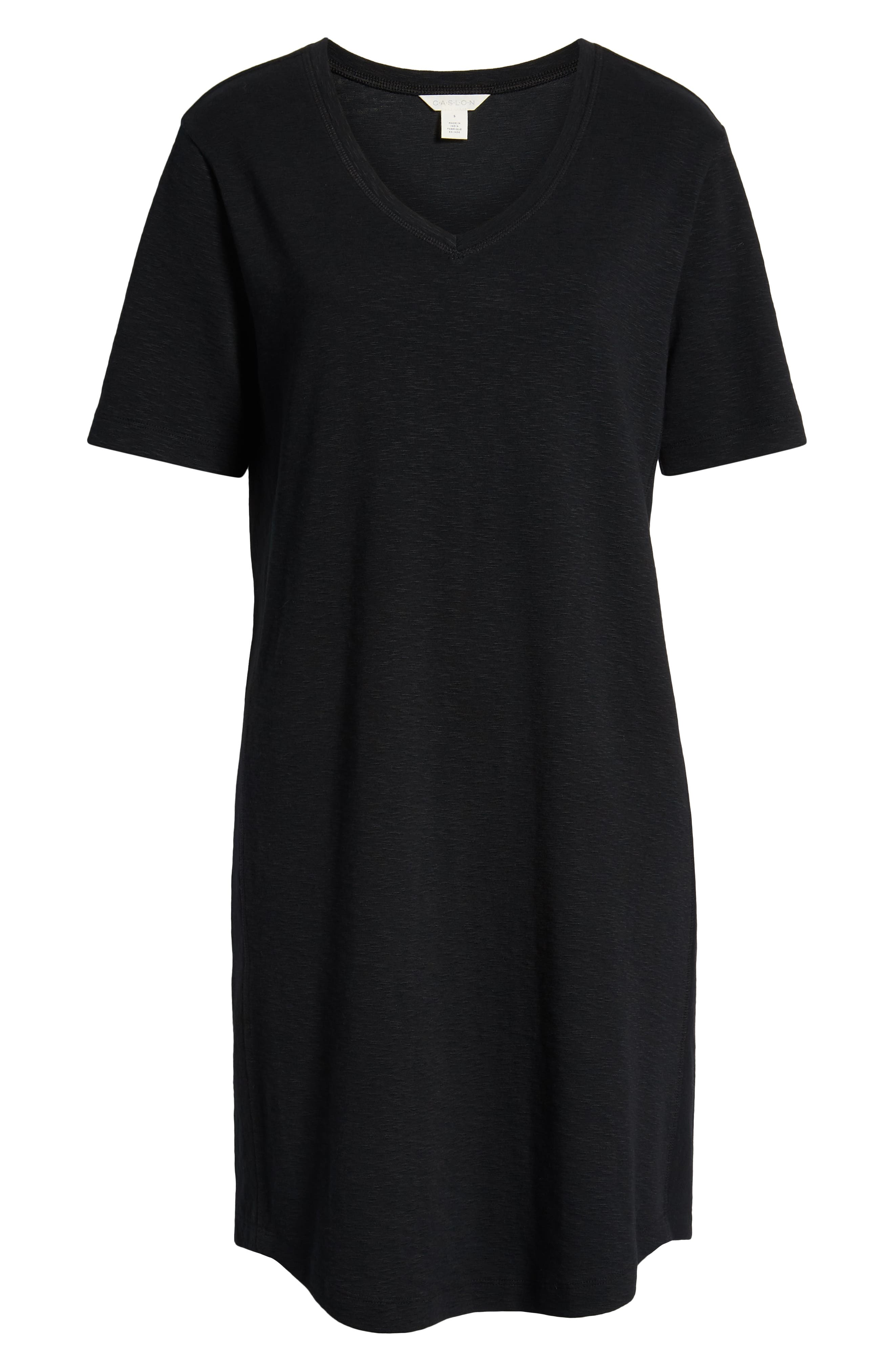 ,                             Slub Knit Dress,                             Alternate thumbnail 9, color,                             001