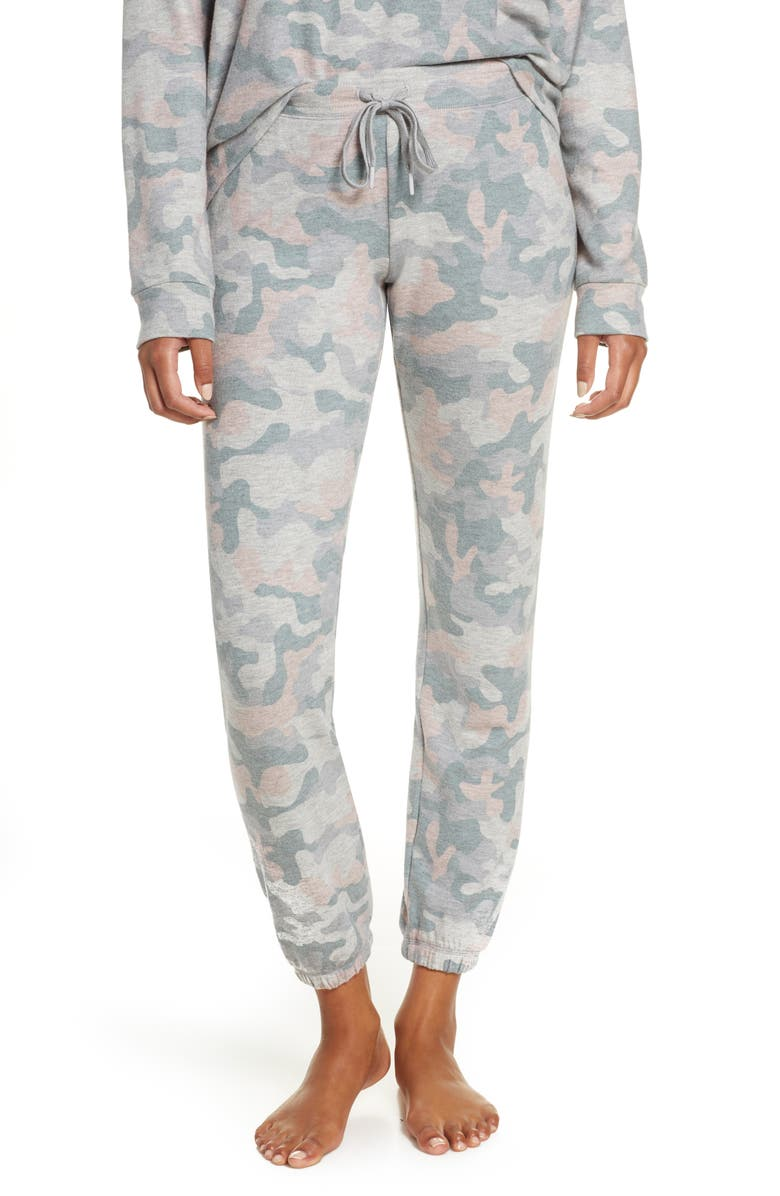 PJ SALVAGE Weekend Love Lounge Jogger Pants, Main, color, H GREY
