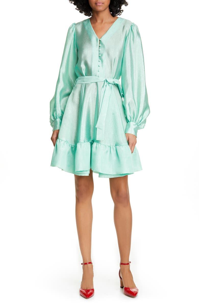 STINE GOYA Farrow Long Sleeve Dress, Main, color, JADE