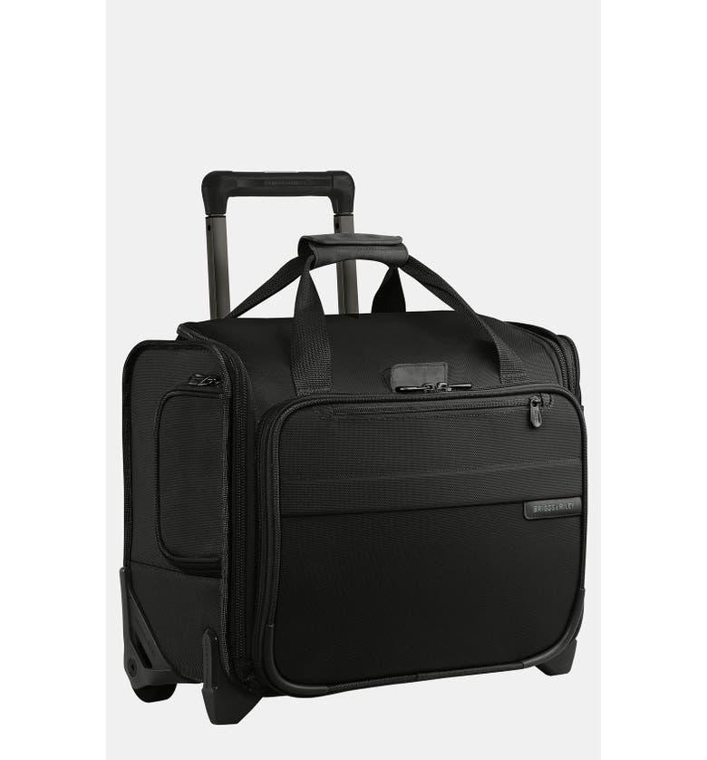 BRIGGS & RILEY 'Baseline' Rolling Cabin Bag, Main, color, BLACK