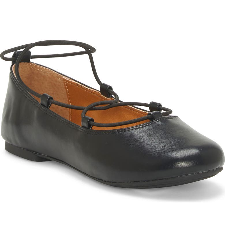 LUCKY BRAND Eviee Metallic Flat, Main, color, BLACK