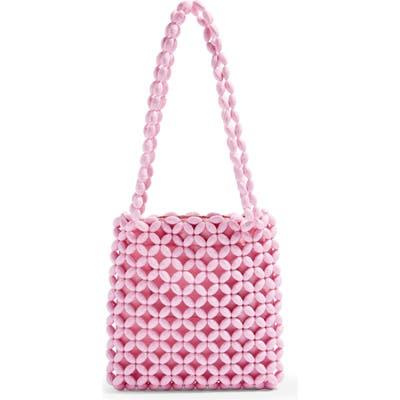 Topshop Saga Beaded Tote Bag - Pink