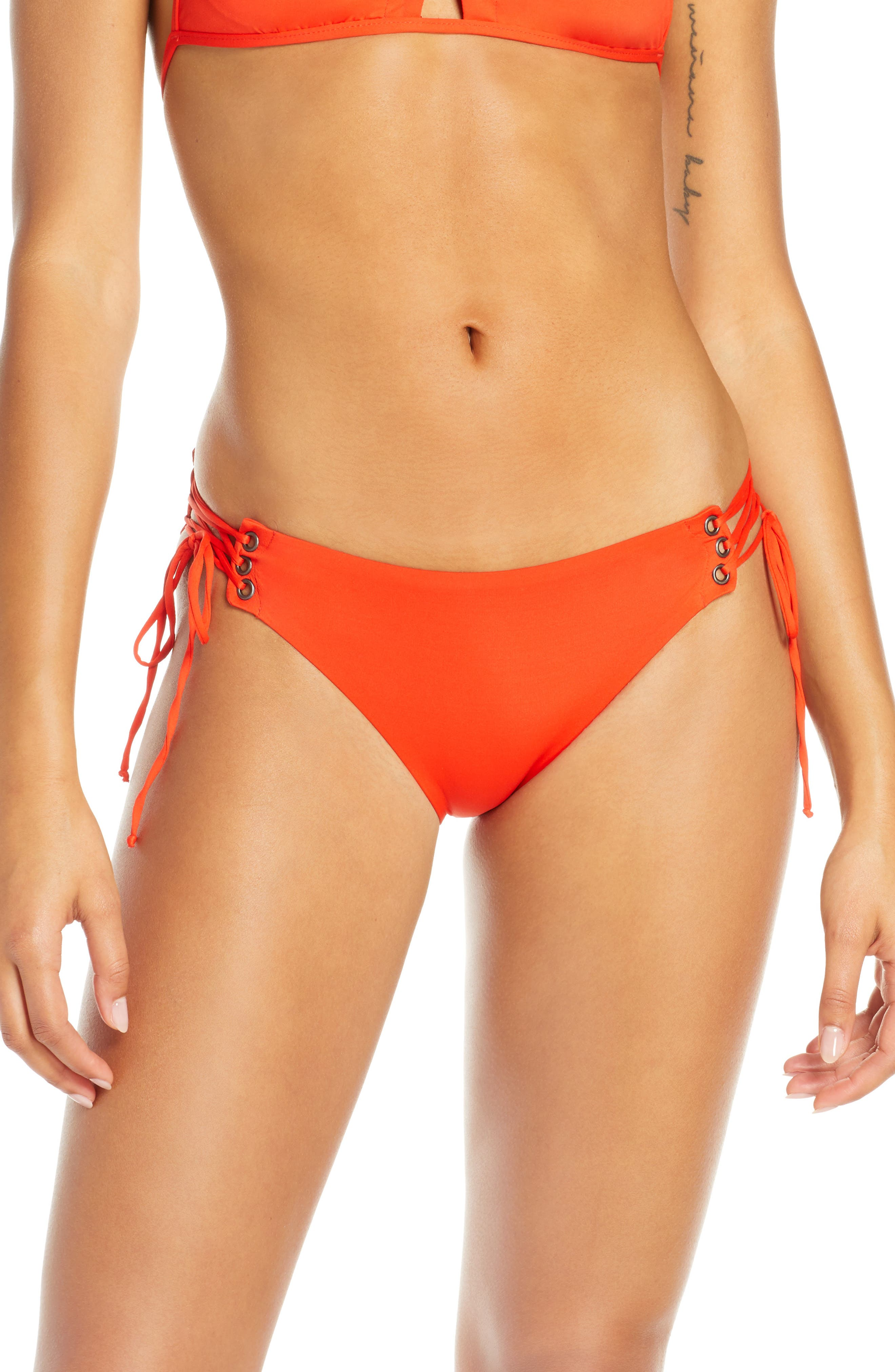 Isabella Rose Home Side Tie Bikini Bottoms, Orange