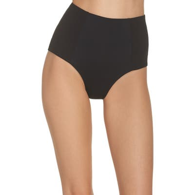 L Space Jackie High Waist Bikini Bottoms, Black (Nordstrom Exclusive)
