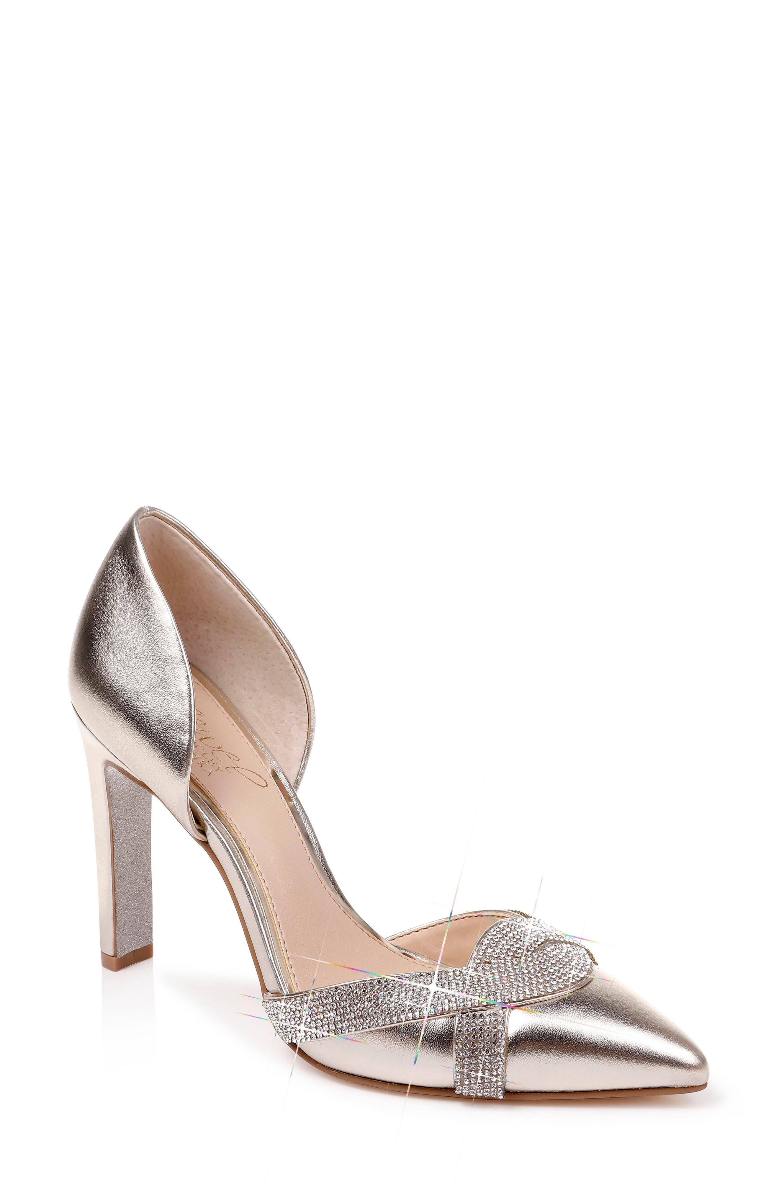 Jewel Badgley Mischka Sedona Crystal Embellished d'Orsay Pump (Women)