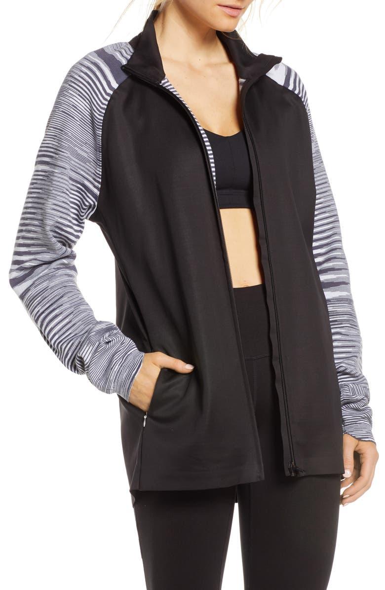 ADIDAS X MISSONI Running Jacket, Main, color, BLACK/ DARK GREY/ WHITE