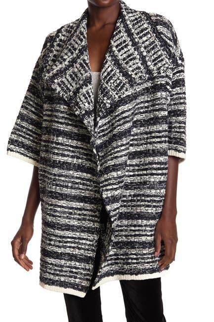 Image of alice + olivia Hester Boxy Wide Sleeve Sweater Coat