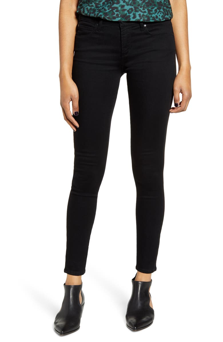 ARTICLES OF SOCIETY Sarah Ankle Jeggings, Main, color, BLACK STONE