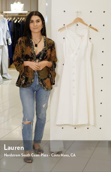 Emily Asymmetrical Front Button Cocktail Dress, sales video thumbnail