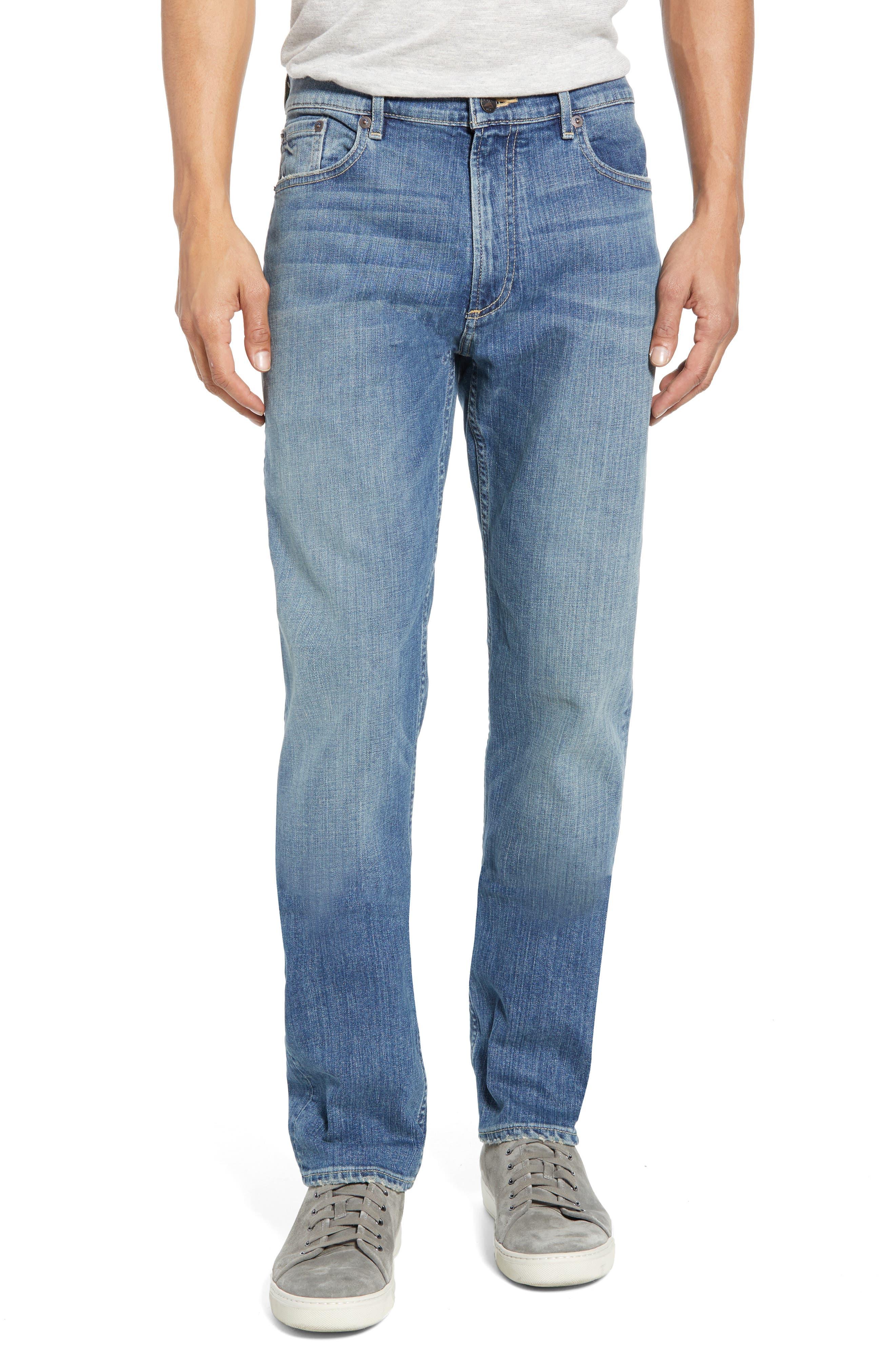 Faherty Ocean Straight Leg Jeans, Blue