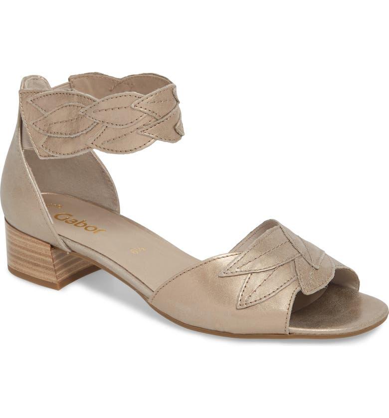 GABOR Leaf Ankle Strap Sandal, Main, color, 710