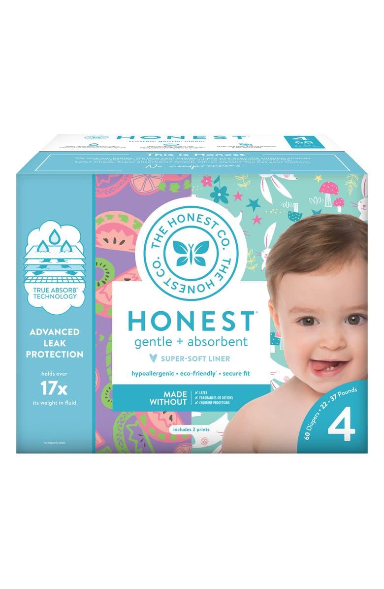 THE HONEST COMPANY Bunnies/Sliced Fruit Size 4 Club Box Diapers, Main, color, BUNNIES/ SLICED FRUIT