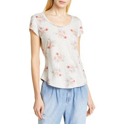 La Vie Rebecca Taylor Catrine Linen & Cotton Jersey Top, Grey