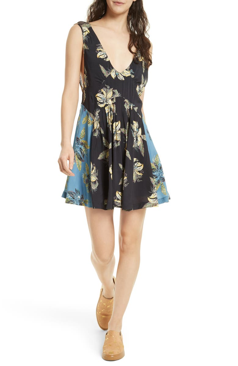 FREE PEOPLE Thought I Was Dreaming Minidress, Main, color, 001