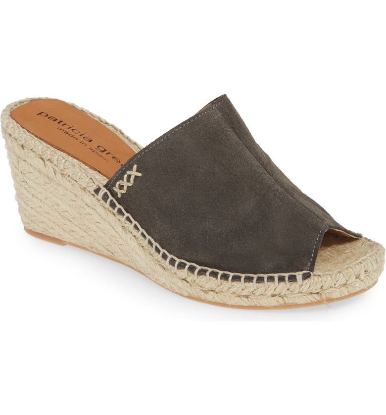 PATRICIA GREEN Shen Espadrille Mule, Main, color, CHARCOAL/ CHARCOAL SUEDE