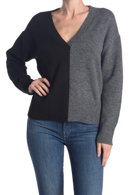Image of Sweet Romeo V-Neck Colorblock Sweater